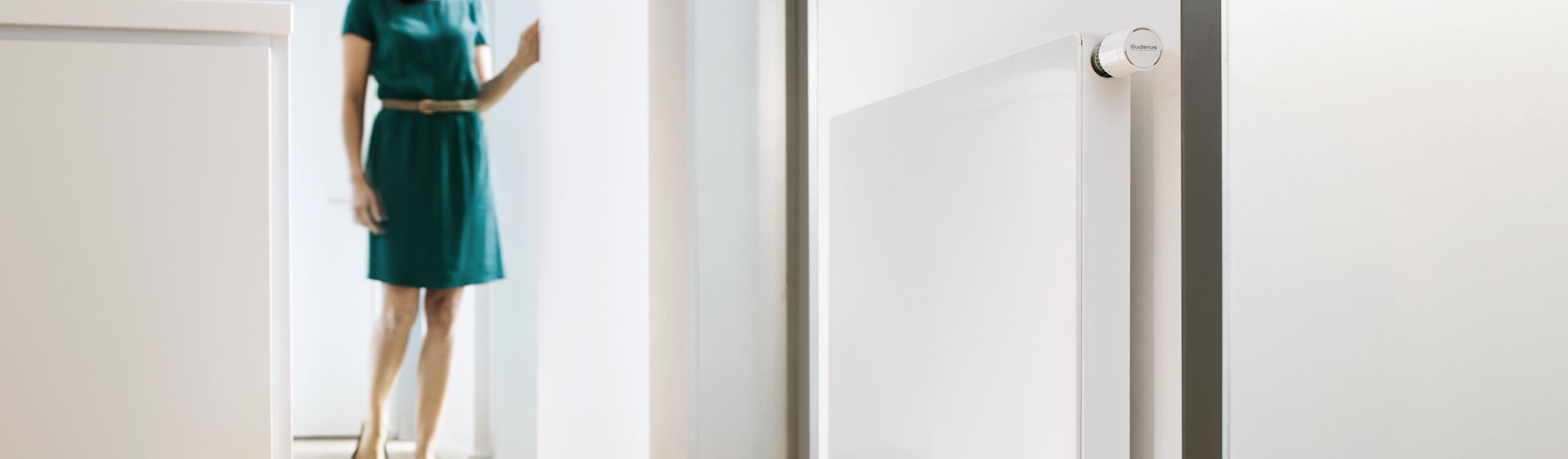 Flachheizkoerper in schoenem Design